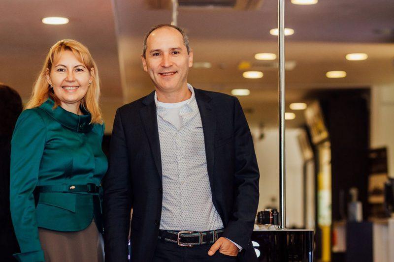 Daniela Becheru și Marian Alecsiu, cofondatori