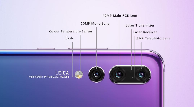 cameră foto Huawei P20 Pro