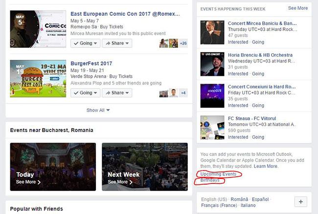 sincronizare Facebook Events cu Google Calendar