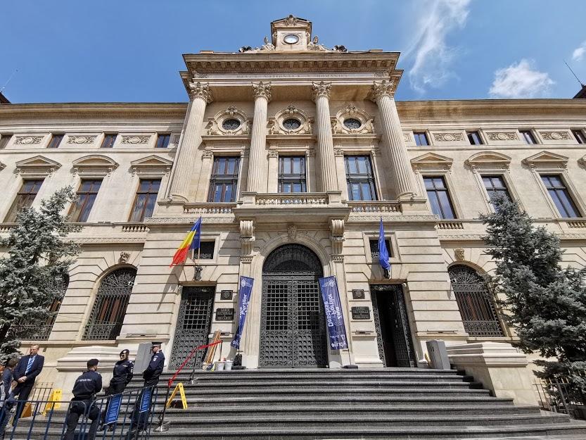 Palatul BNR intrare Lipscani