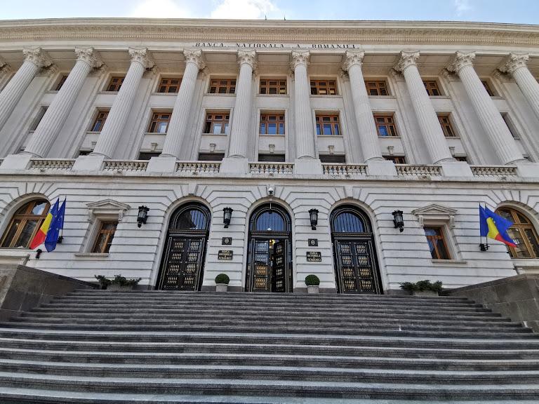 Palatul BNR intrare strada Doamnei