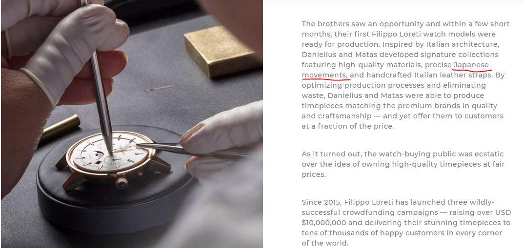 mecanisme ceasuri filippo loreti