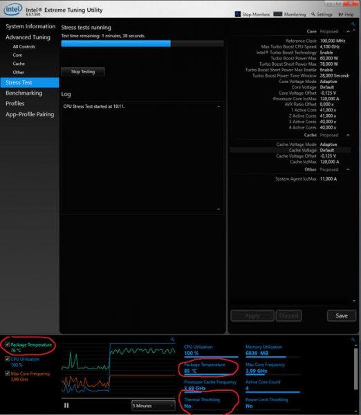 undervolting procesor intel