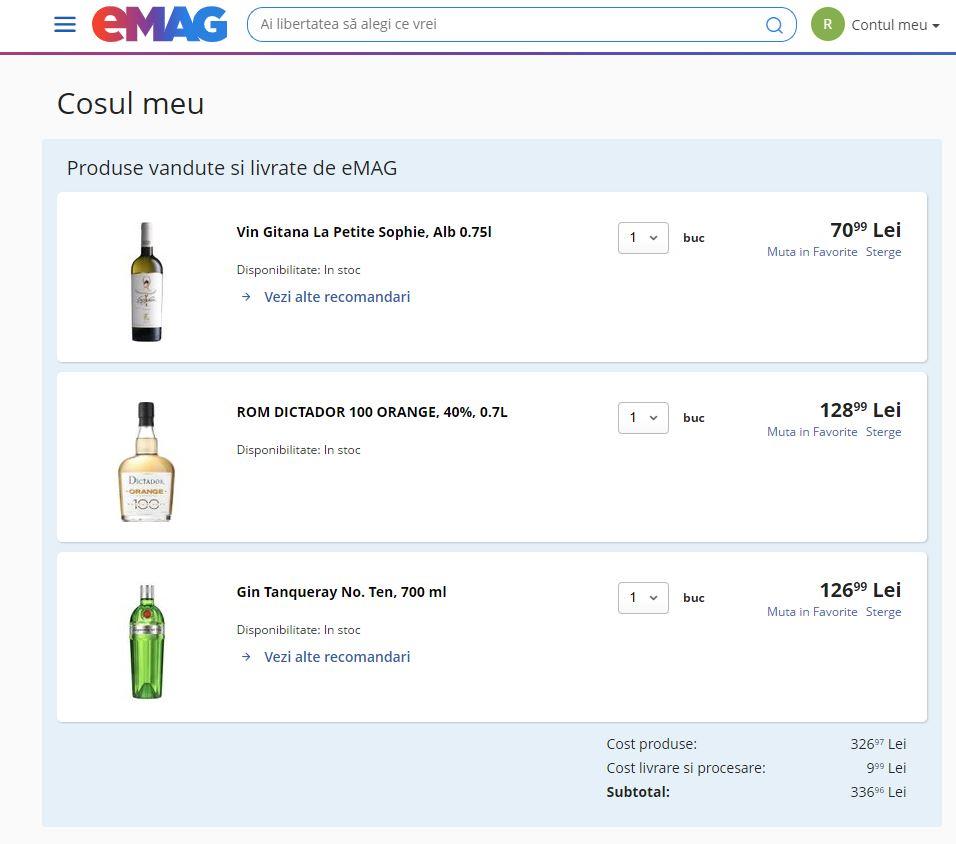 comanda bauturi alcoolice emag