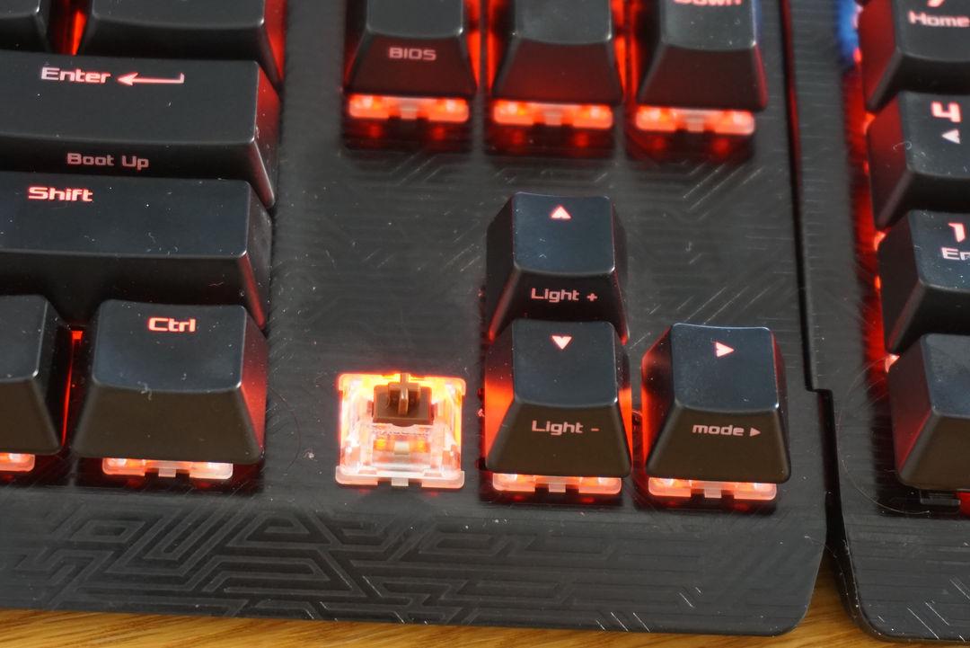 tastatură rog claymore cherry brown