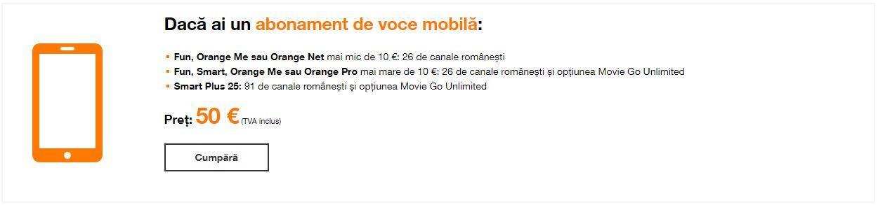 preturi orange tv go box 1