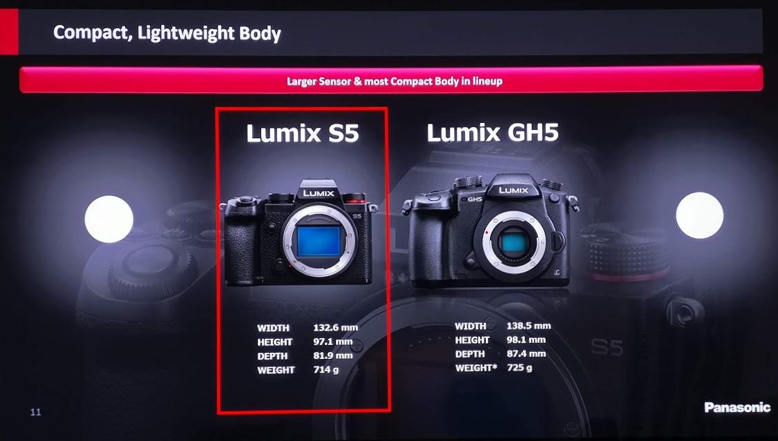 comparație lumix s5 lumix gh5