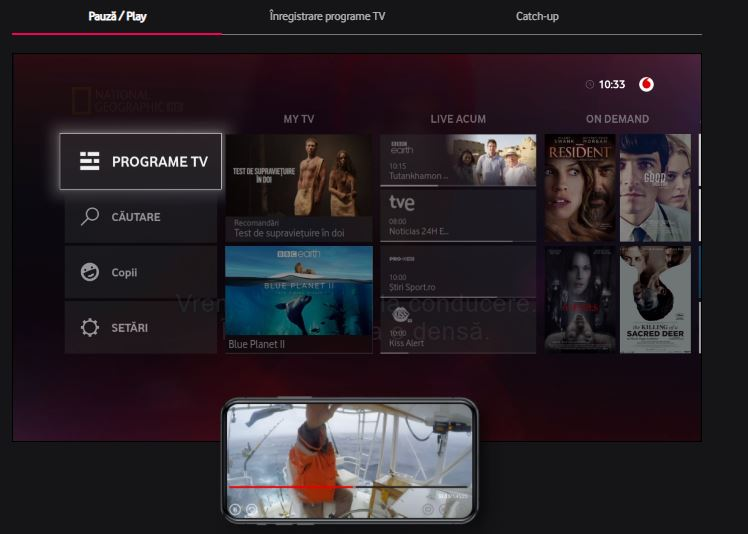 interfață vodafone tv mediabox