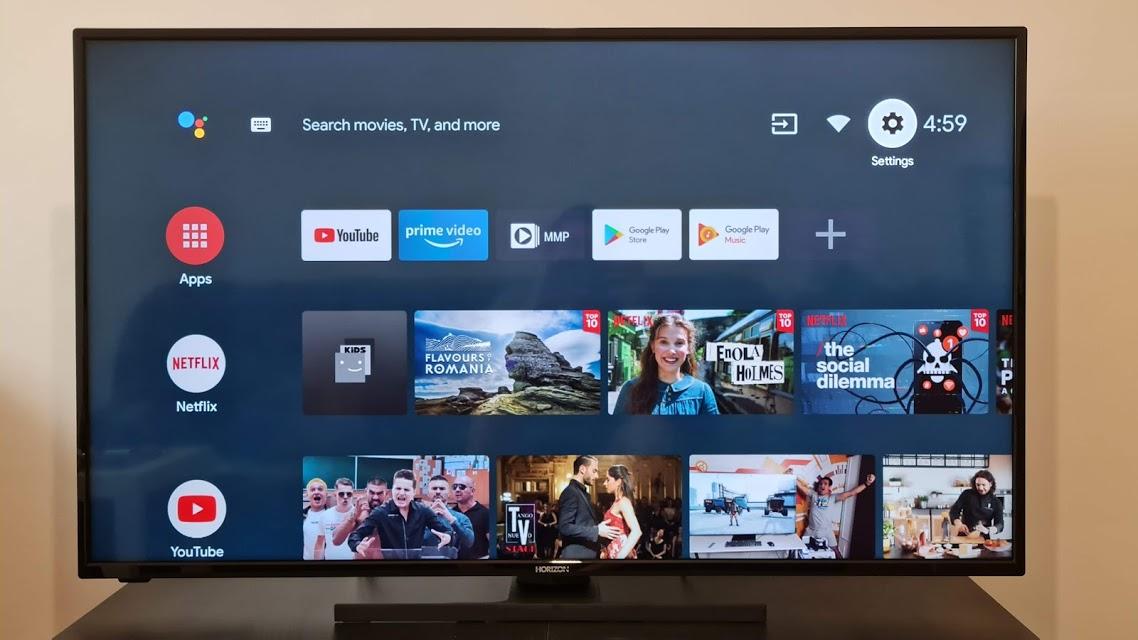 horizon android tv homescreen