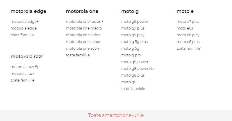 telefoane motorola 2020
