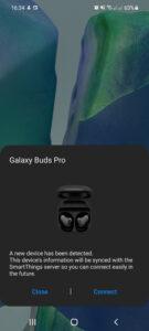 aplicație galaxy buds pro