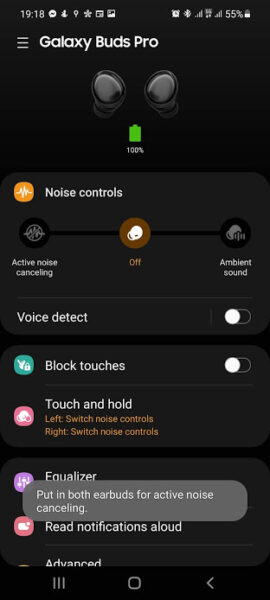 noise canceling galaxy buds pro